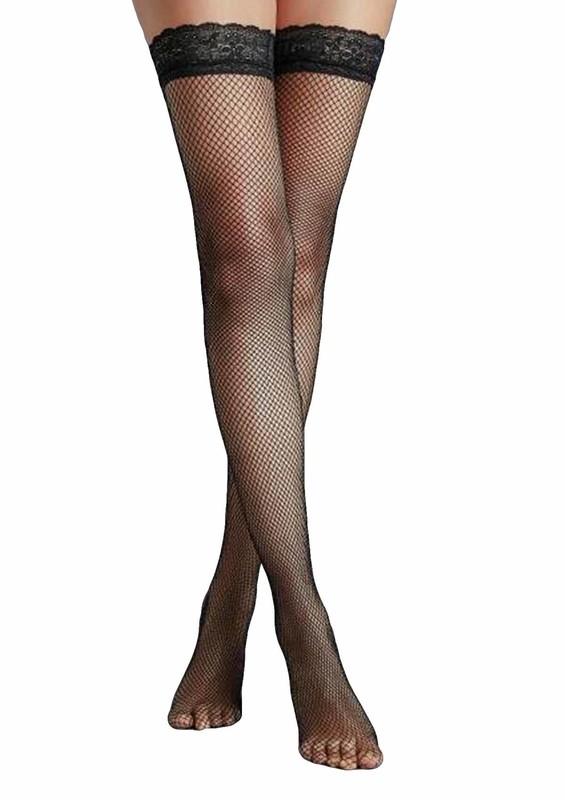 PENTİ - Penti İnce File Jartiyer Çorabı | Siyah