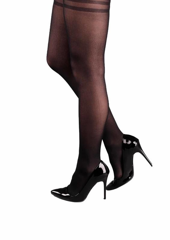 PENTİ - Penti Öğretmen Kalın Jartiyersiz Çorap | Siyah
