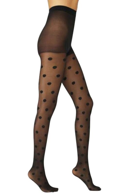 PENTİ - Penti Lovely Puantiyeli Külotlu Çorap | Siyah
