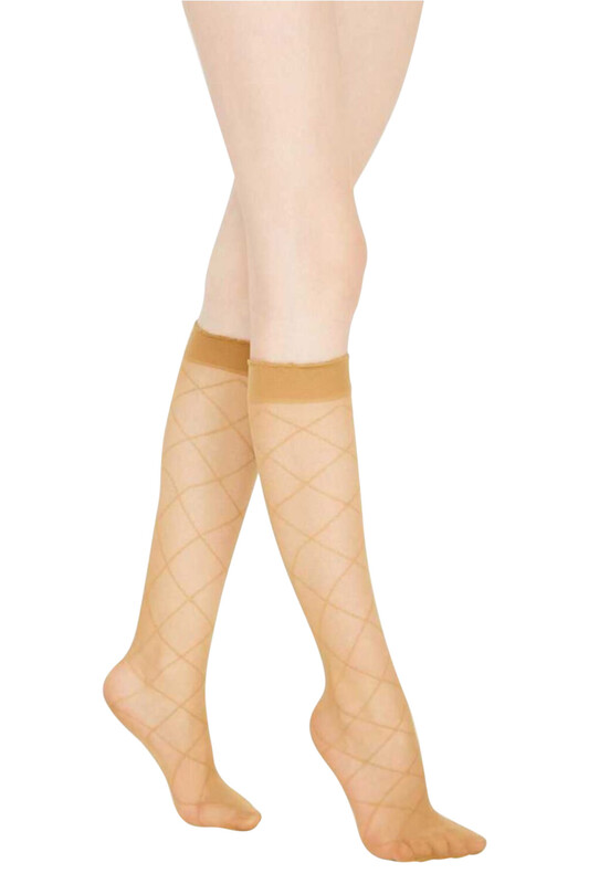 PENTİ - Penti Baklava Desenli Pantolon Çorabı | Ten