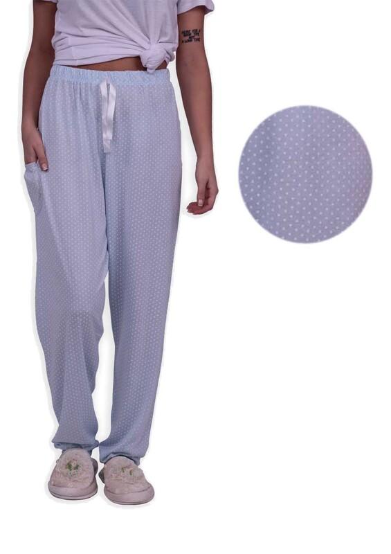 ARCAN - Kalp Desenli Pijama Altı 20106 | Mavi