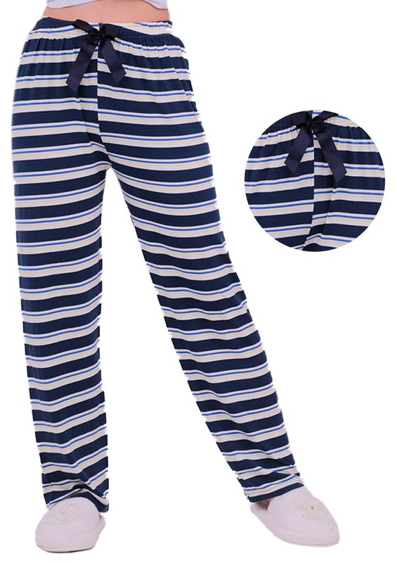 RİNDA - Çizgili Pijama Altı 126 | Lacivert