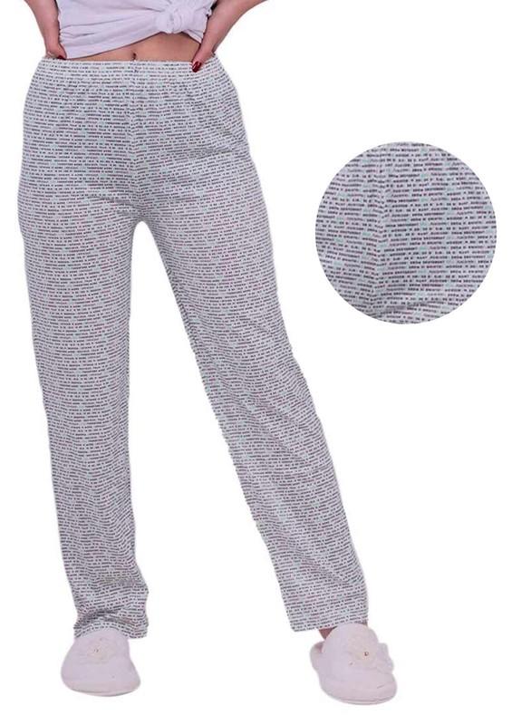 RİNDA - Yazı Desenli Pijama Altı | Beyaz