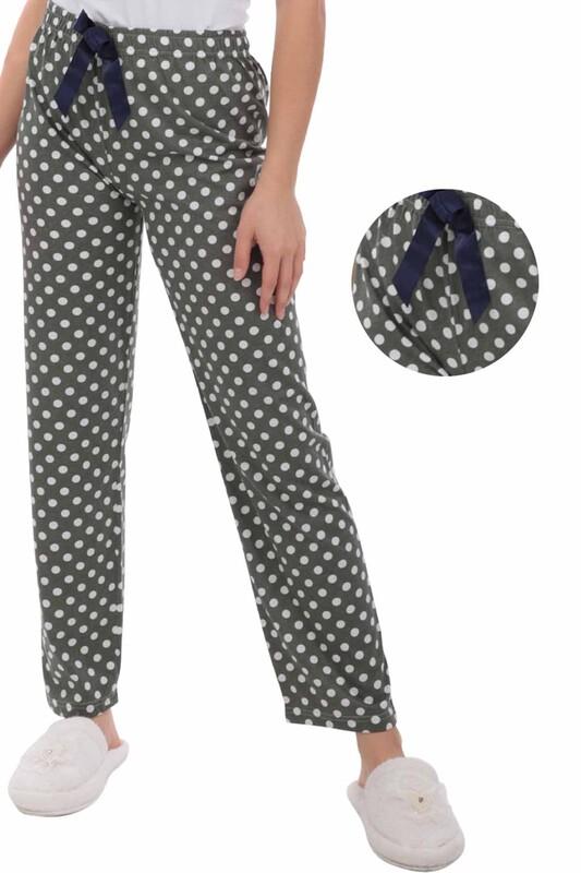 RİNDA - Puantiyeli Kadın Pijama Altı | Yeşil
