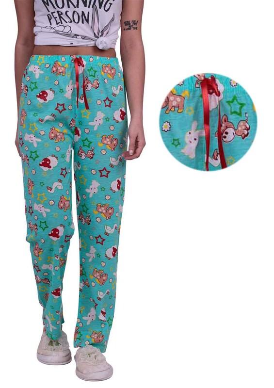 SİMİSSO - Tavşan Desenli Kadın Pijama Altı | Yeşil