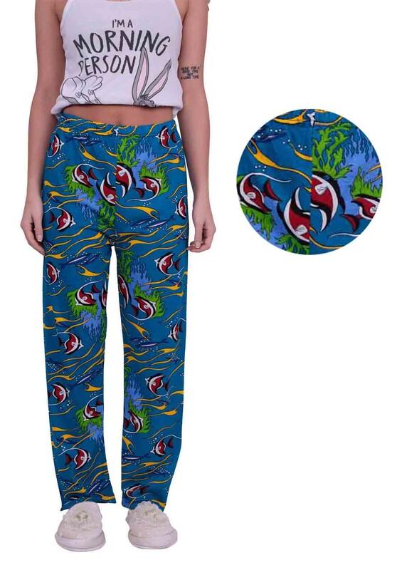 SİMİSSO - Balık Desenli Kadın Pijama Altı | Saks