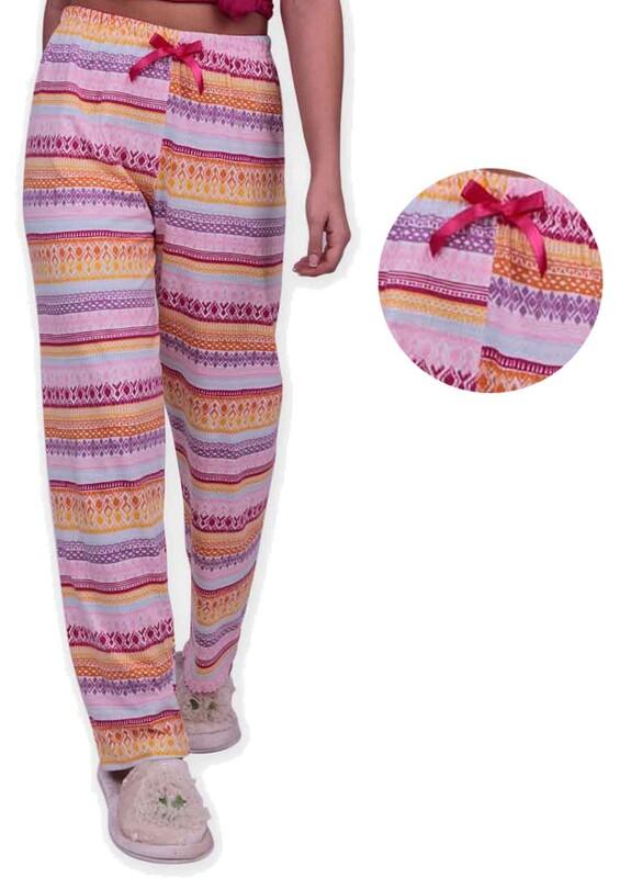 SİMİSSO - Etnik Desenli Kadın Pijama Altı | Pembe