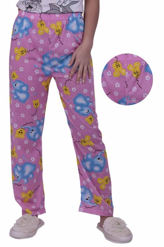 SİMİSSO - Fil Desenli Kadın Pijama Altı | Pembe