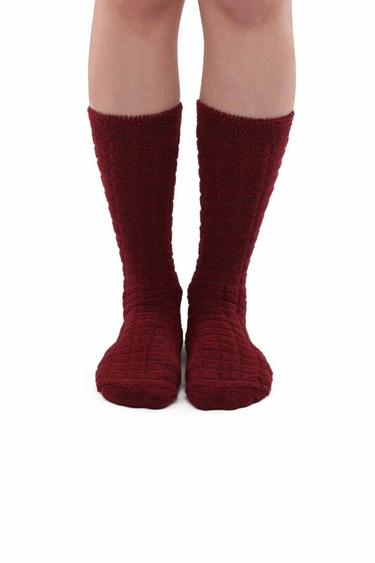 ARC - Kadın Ters Havlu Çorap 212   Bordo