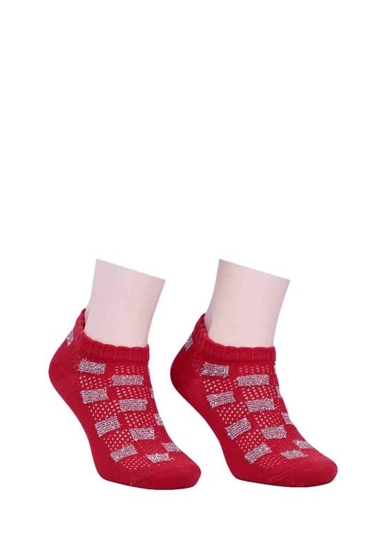 CALZE VİTA - Calze Vita Desenli Çorap 343   Kırmızı