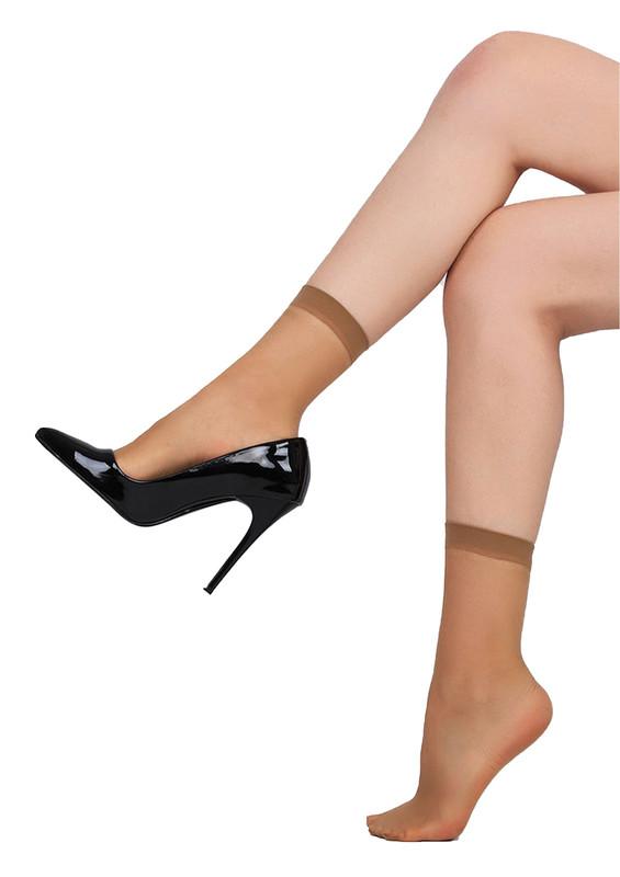 DAYMOD - Daymod İnce Parlak Soket Çorap Fity 15 | Bronz
