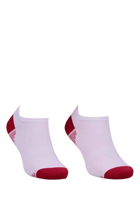 PAKTAŞ - Paktaş Desenli Patik Çorap 2534   Kırmızı