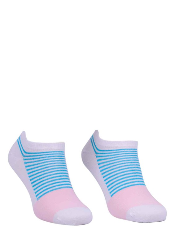 PAKTAŞ - Paktaş Desenli Patik Çorap 2535 | Beyaz