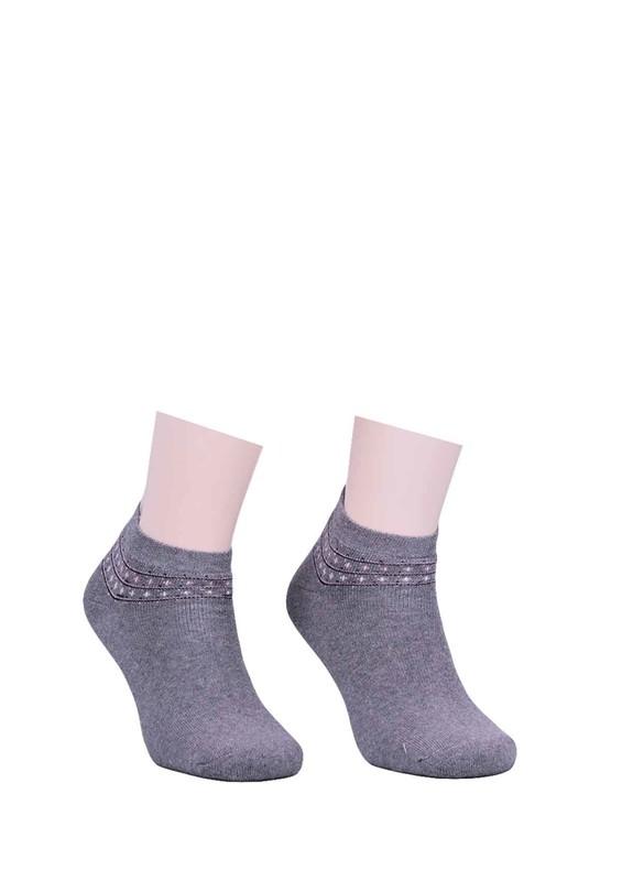 PAMELA - Bileği Desenli Çorap 620 | Gri