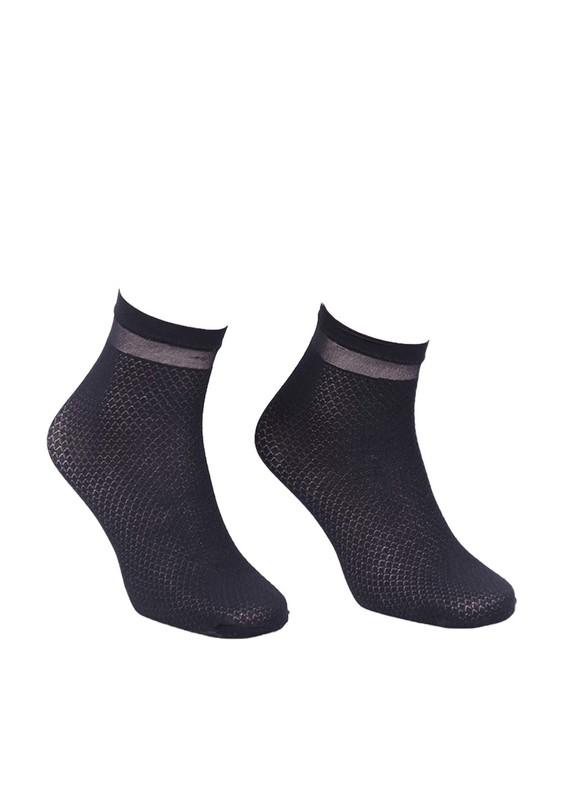PENTİ - Penti Cross Desenli Soket Çorap | Siyah