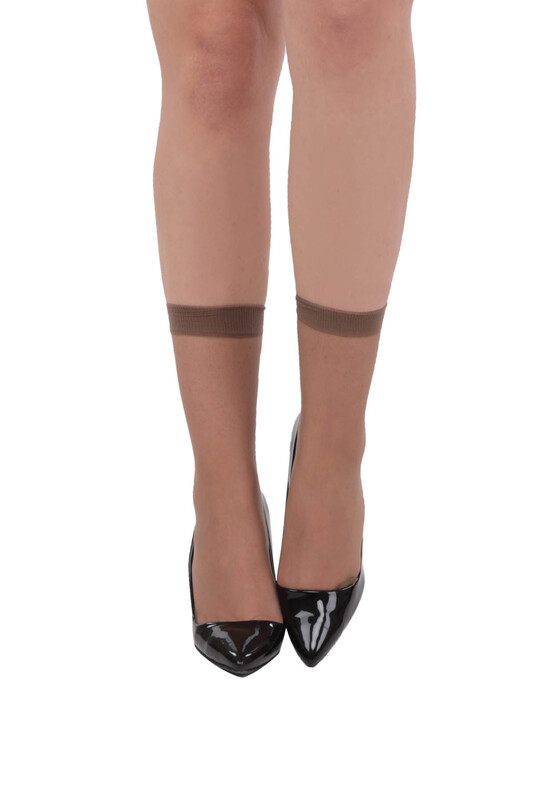 PENTİ - Penti 15 Den Süper Mat İnce Soket Çorap | Vizon