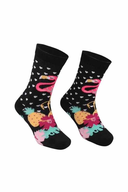 RETRO - Flamingo Desenli Çorap   Pembe