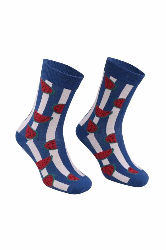 RETRO - Karpuz Desenli Çorap | Mavi