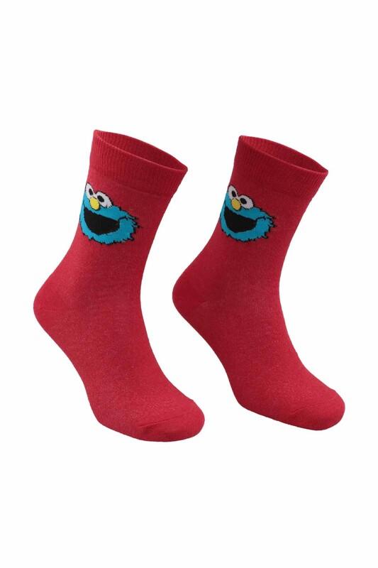 RETRO - Çizgi Film Karakterli Çorap   Kırmızı
