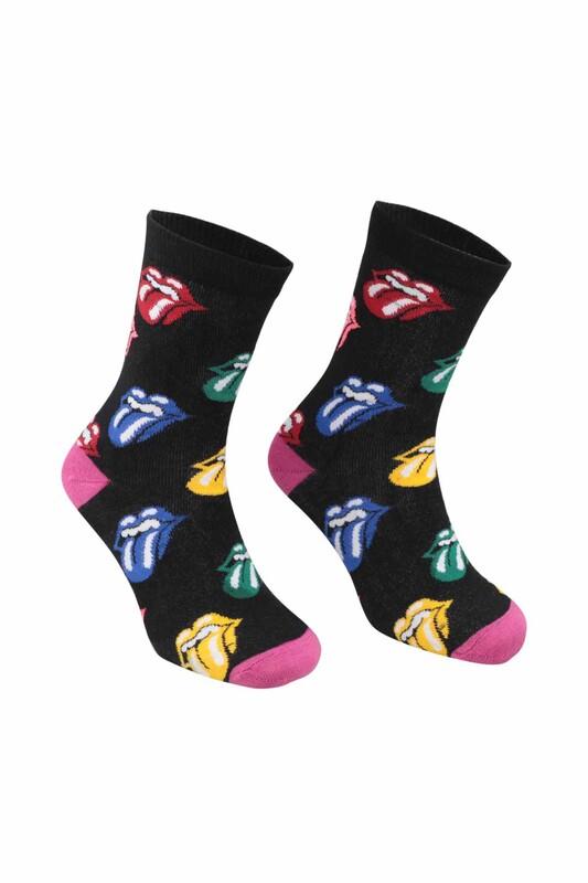 RETRO - Desenli Çorap 9933   Pembe