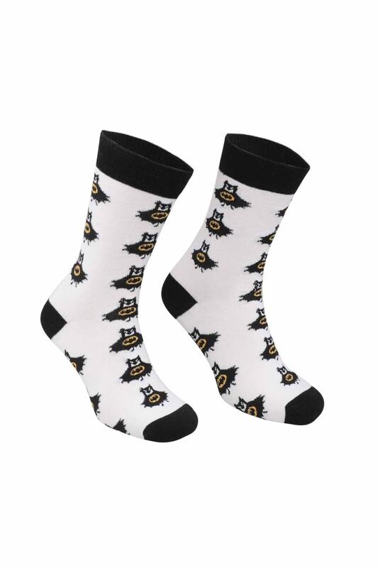 RETRO - Batman Desenli Çorap   Siyah