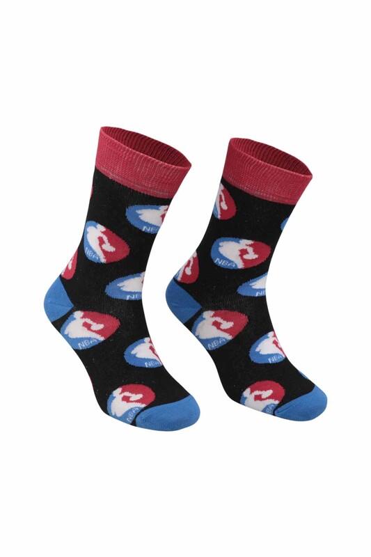 RETRO - Top Desenli Çorap   Siyah