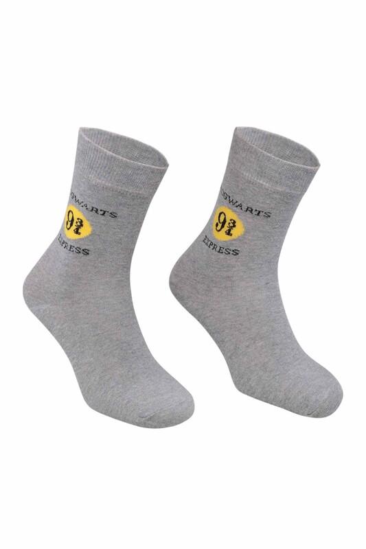 RETRO - Sayı Baskılı Çorap   Gri