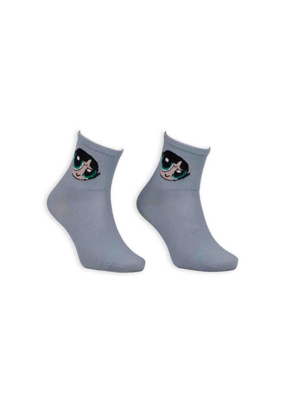 SİMİSSO - Çizgi Film Karakterli Kadın Soket Çorap 0055 | Mavi