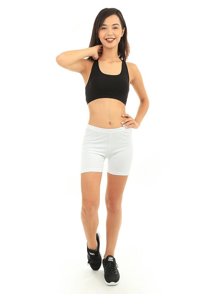 Mary Lüx Beli Lastikli Diz Üstü Tayt 609 | Beyaz
