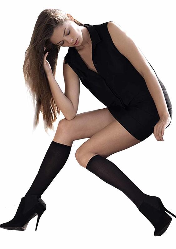 MÜJDE - Müjde Lastiği Rahat Dizaltı Çorap 016 | Siyah