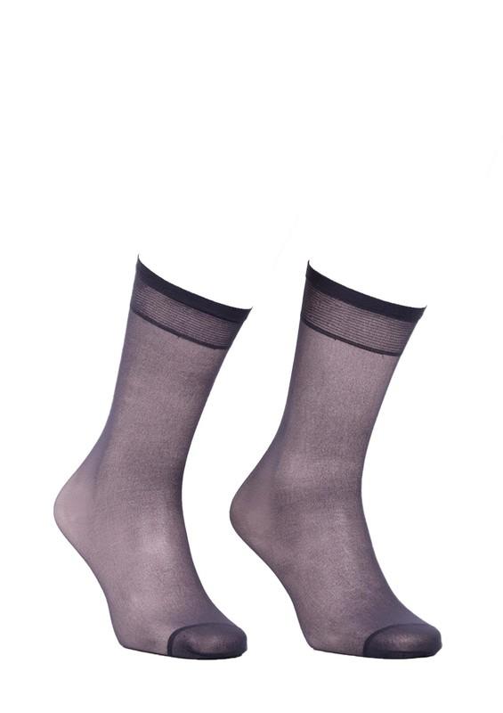 MÜJDE - Müjde Burnu Takviyeli Mat Dizaltı Çorap 004 | Füme