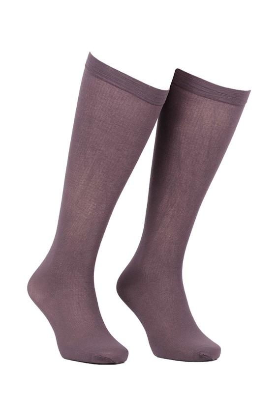 MÜJDE - Müjde Rahat Lastikli Mus Çorap Renk Seçenekli 013 | Kahverengi