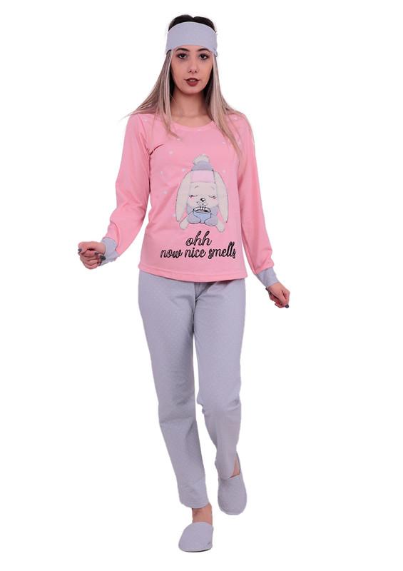 BOYRAZ - Boyraz Tavşanlı Pijama Takımı 4'lü 11150 | Pembe