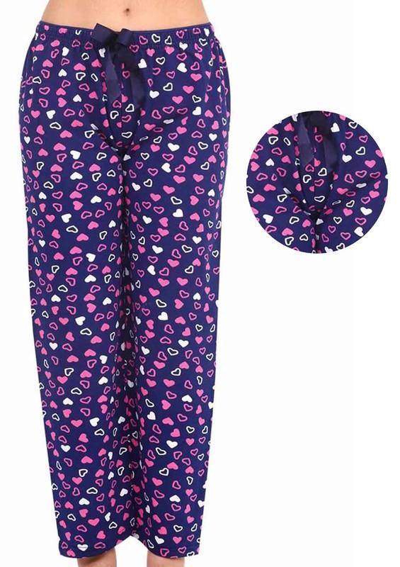 DOGİ - Kalpli Kurdeleli Bol Paçalı Pijama Altı 003 | Lacivert