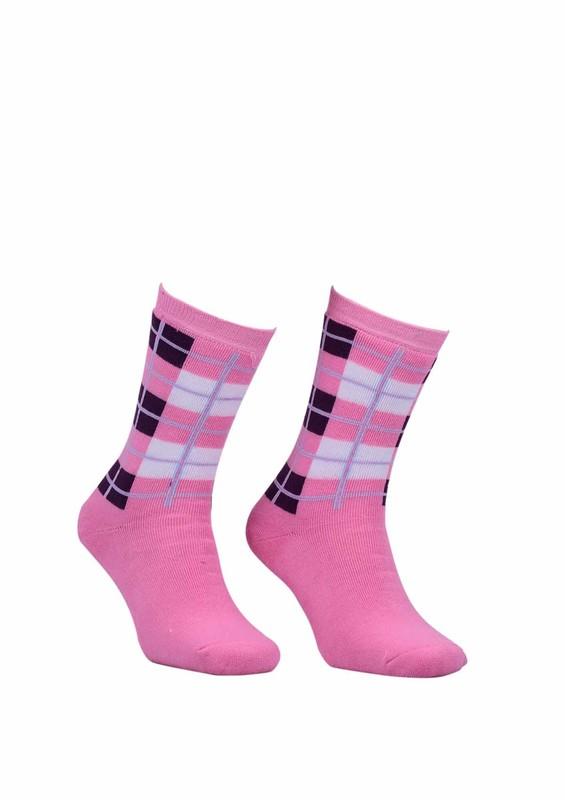 Modemo - Kareli Havlu Çorap 2050   Pembe