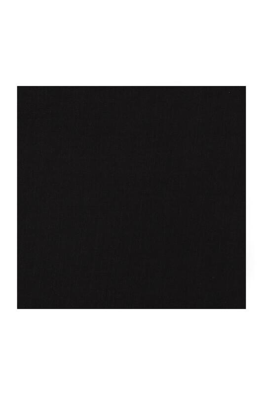 KAŞMİR - Kaşmir Dikişsiz Düz Yazma 100 cm Siyah 2