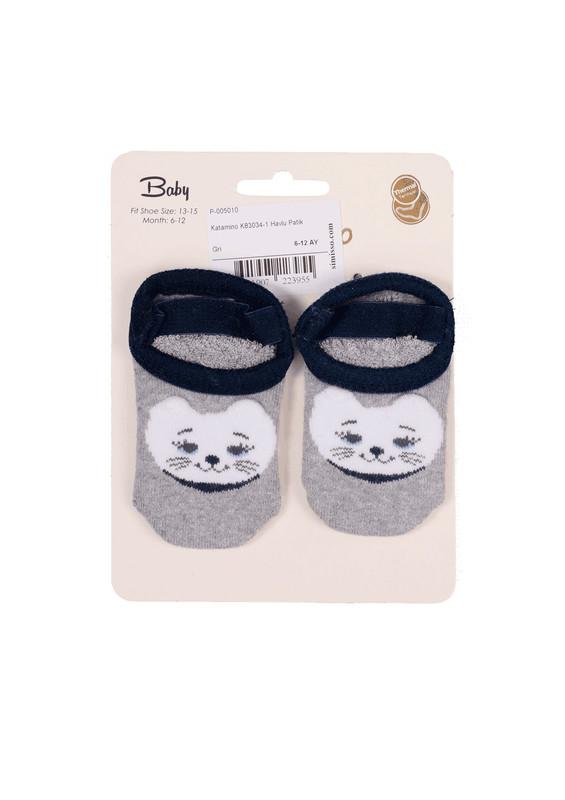 KATAMİNO - Katamino Havlu Patik Çorap 83023 | Gri