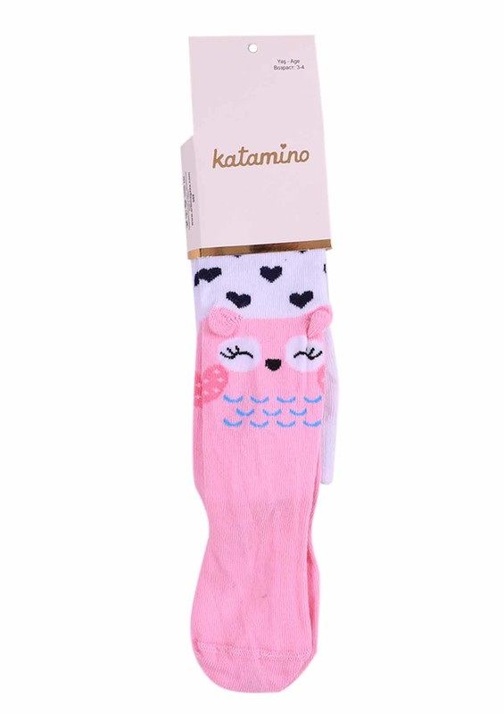 KATAMİNO - Katamino Külotlu Çorap 5404 | Pudra