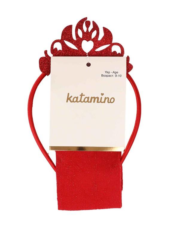 KATAMİNO - Katamino Külotlu Çorap 5407 | Kırmızı