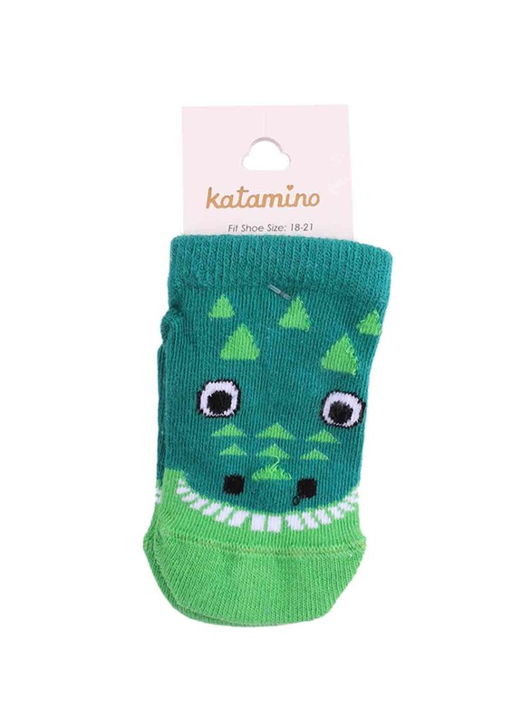 KATAMİNO - Katamino Patik Çorap 20051 | Yeşil