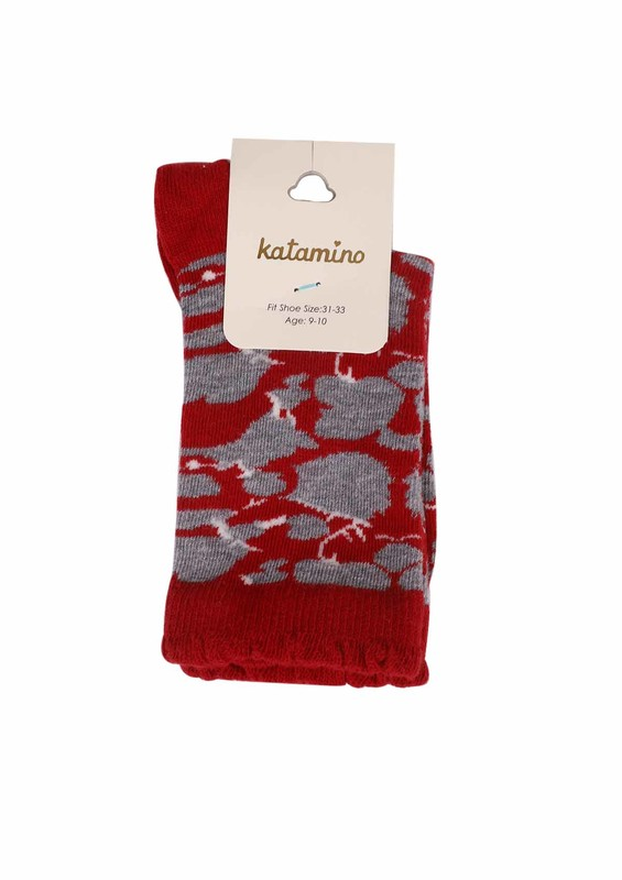 KATAMİNO - Katamino Soket Çorap 5403 | Kırmızı