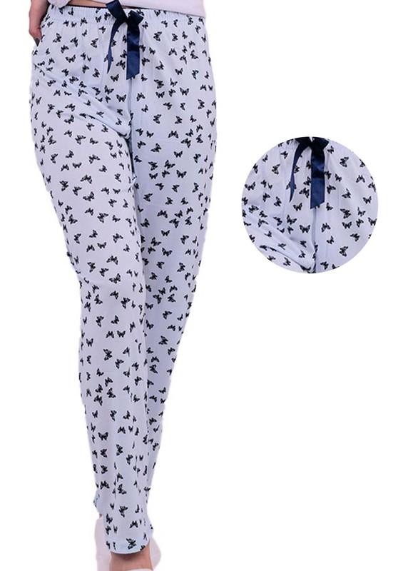 ARCAN - Kelebek Desenli Pijama Altı 20103   Mavi