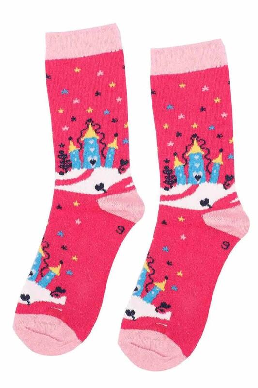 ARC - Arc Kids Kız Çocuk Çorap 002 | Fuşya