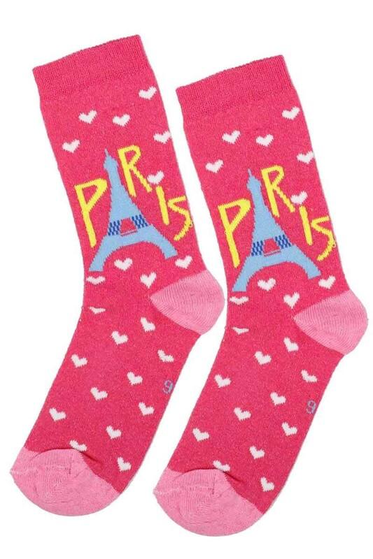 ARC - Arc Kids Kız Çocuk Çorap 003 | Fuşya