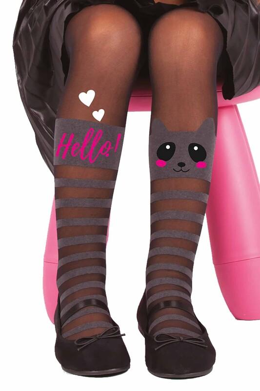 DAYMOD - DayMod Beril Çocuk Külotlu Çorap | Siyah