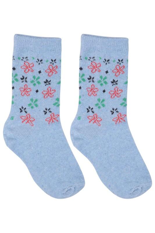 ÜÇ-EL - Kız Çocuk Çorap 50 | Mavi