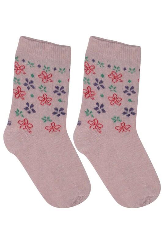 ÜÇ-EL - Kız Çocuk Çorap 50 | Pudra