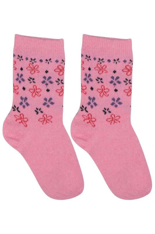 ÜÇ-EL - Kız Çocuk Çorap 50 | Pembe