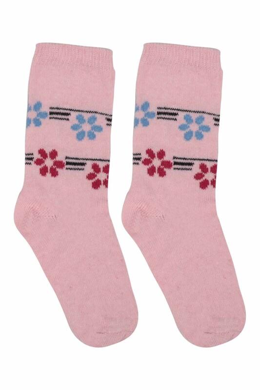 ÜÇ-EL - Kız Çocuk Çorap 51 | Pembe