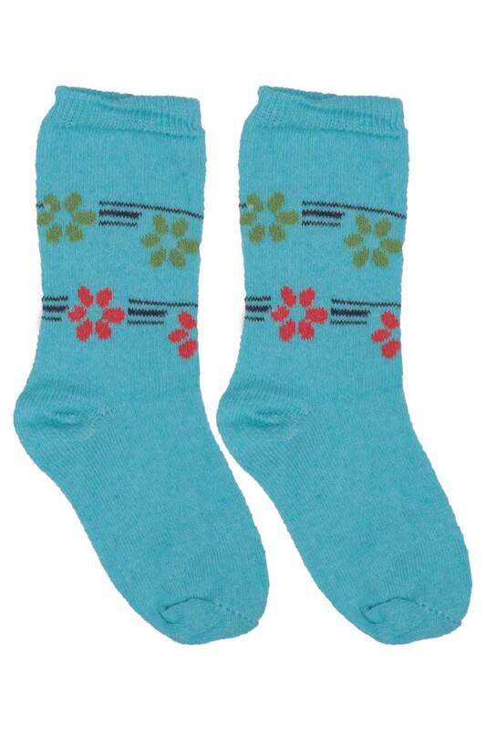 ÜÇ-EL - Kız Çocuk Çorap 51 | Turkuaz